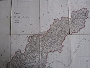 District Hazara 1863 to 69. Folding Map on a Scale of 4 Miles to 1 Inch