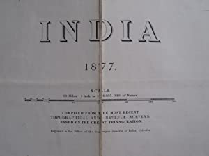 INDIA 1877 Compiled from the Most Recent Topographical and Revenue Surveys Based on the Great Tri...
