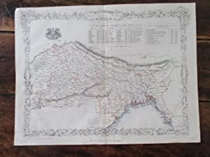 Nothern India Including the Bengal Presidency. Map on a Single Sheet 1859: Rapkin, J