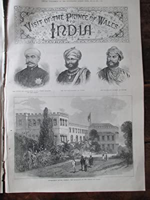 Visit of the Prince of Wales to India. Special Supplement to the Illustrated London News Nov 20th ...