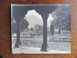 Shalimar, a Large Format Photograph of the Gardens and Distant Mountains Seen Between Stone Arches ...