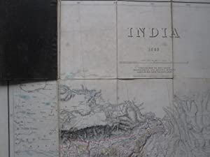 INDIA 1883 Compiled from the Most Recent Topographical and Revenue Surveys Based on the Great Tri...