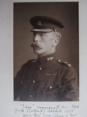 Colonel W H F Weber , Royal Horse Artillery. An album with several signed portraits of General ...