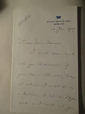 Autograph Letter Signed By Lord Ampthill, Dated January 1909: Ampthill, 2nd Baron, Arthur Oliver ...