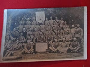 Postcard Showing White Lodge, a Group of Uniformed Soldiers Belongiing to the Royal Antediluvian ...