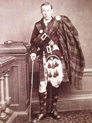 Carte De Visite Portrait Photograph of a Gentleman in Highland Dress, Identified on the Reverse as ...