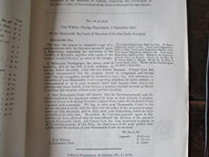 "EAST INDIA (ANNEXATION OF KAROULY). Copies ""of Despatch of the Governor-General of India ...."