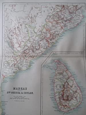Map of Madras (north), South Orissa and: Hunter, Sir William