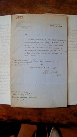 Queen Victoria's Aides De Camp. Memoranda and Accompanying Letter to Colonel Peter Stark ...