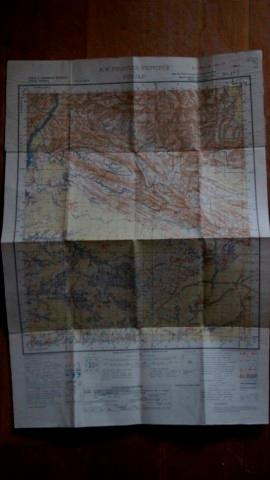 N. W Frontier Provice & Punjab. Folding Map 1 Inch to 1 Mile No 43 C/2 Kohat & Peshawar Districts.
