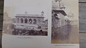 Agra Fort. The Zenana Musjid. A Professional Vintage Photograph Mounted on Old Album card