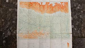 Bihar, India. Folding Map Being Sheet N. G.-45 of the 1:one Million International Map of the World