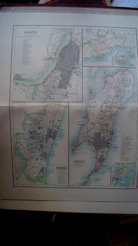 Maps of Calcutta, Madras, Bombay & Aden on a Single Sheet: Hunter, Sir William Wilson