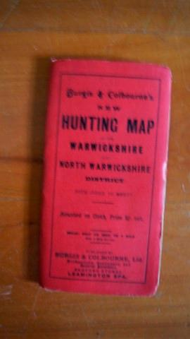 Burgis & Colbourne's New Hunting Map of the Warwickshire and North Warwickshire District . With I...