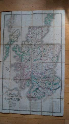 New Road Map of Scotland with Distances from Edinburgh and from Port to Port. Shewing the Lines of ...