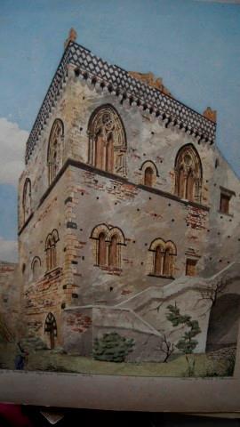 Palazzo Di Duca Di S Stephano, Taormina, Sicily. An Original Grand Tour Watercolour By Philip J ...