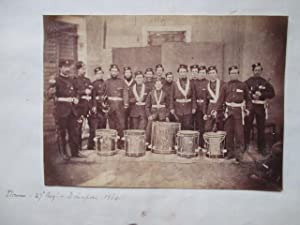 27th [Inniskilling] Regt. A vintage photograph showing group portrait of the drummers and buglers...