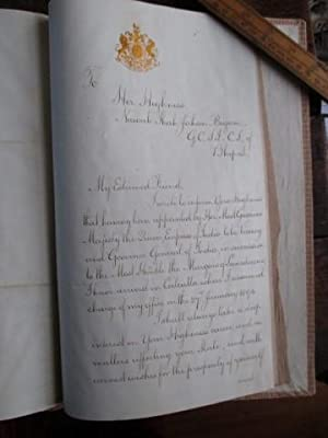 Signed official manuscript from the Viceroy of India, Lord Elgin, to the Begum of Bhopal, 1894