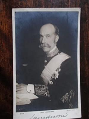 Real Photograph Postcard Portrait of the Marquess of Lansdowne Signed Lansdowne