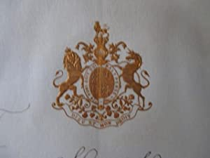 Signed manuscript letter from the Viceroy of India, Marquess of Lansdowne, to the Begum of Bhopal...