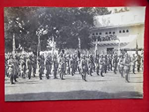 Gwalior Infantry, Imperial Service troops. A Good Vintage Photogrraph of the Lancers Drawn Up wit...