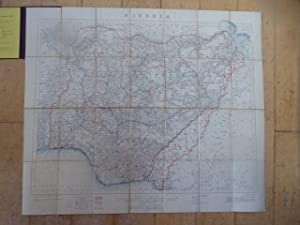 NIGERIA. Folding Map of Nigeria Produced By the Geographical Section of the General Staff at the ...