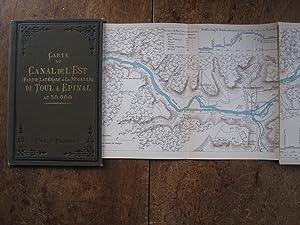 Carte Du Canal De L'Est (partie Laterale a La Moselle) De Toul a Epinal. Au 50,000.: Vuillaume...