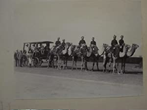 Lord Minto with the Governor of the United Provinces' Camel Carriage at Agra 1907
