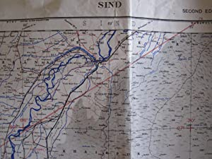 Sind, Second Edition Army/Air Style Map Sheet NG-42. 1944