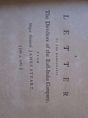 A Letter to the Honourable the Directors: Stuart, Major General