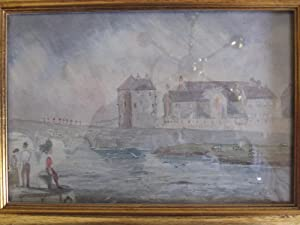 Claire Castle, Ireland 1852. An Original Watecolour on Paper.: Upton, Edward James, Lt 73nd ...