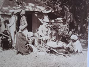 Paying Beaters. A Very Busy Scene at an Indian Shikar Camp, Late 19th Century, Showing Two British ...