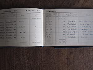 Pilot's Log Book 1935-1939. G H E Kingcome of Glasgow: Kingcome, Acting Pilot Officer George ...