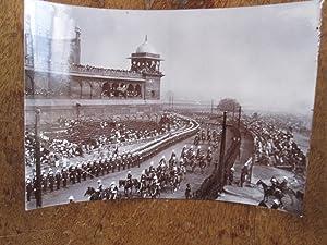 Delhi Durbar Coronation 1911. The Worcestershire Regiment Lining the Route Outside the Jumma Masjid...
