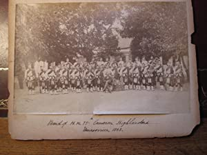 BAnd of H M 79th Cameron Highlanders. Mussoorie 1868. An Original Photograph Taken in India: Clarke...