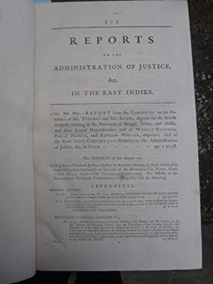 Report from the Select Committee on the Afairs of the East India Company; with an Index of Accounts...