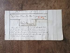 Edward Paget. Autograph Signature of General the Hon Sir Edward Paget (1775-1849) Dated 1812, Cut...