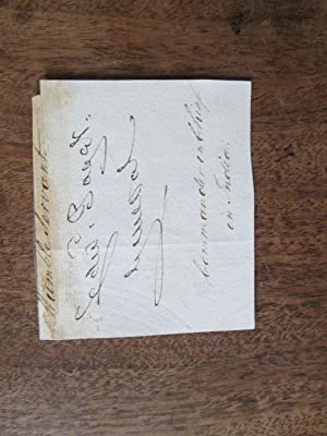 Edward Paget. Autograph Signature of General the Hon Sir Edward Paget (1775-1849) , Cut from a Le...