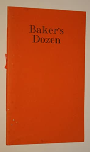 Baker's Dozen: Illustrated Poetry Published at Sidcot By the Gruffyground Press