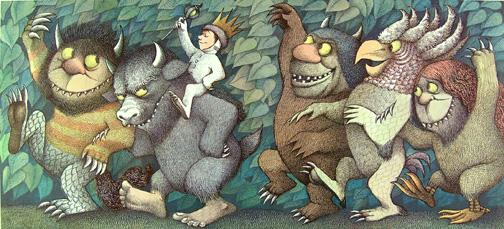Where The Wild Things Are. Complete Set of 4 Fine Art Color Prints: SENDAK (Maurice)