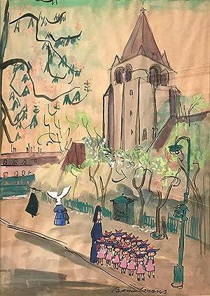 Madeline, Miss Clavel and Pupils by Saint-Germain-des-Prés: BEMELMANS, Ludwig