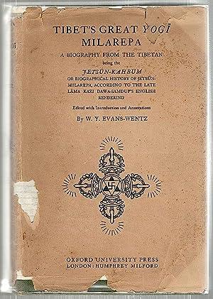Tibet's Great Yogi Milarepa; A Biography from: Evans-Wentz, W. Y.
