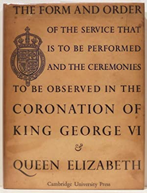 Form and Order of the Service that: Church of England