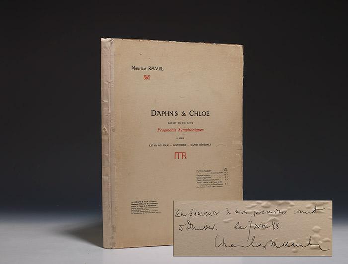 Daphnis & Chloe RAVEL Maurice MUNCH Charles Hardcover RAVEL, Maurice. Daphnis & Chloé. Ballet en un Acte. Fragments Symphoniques 2e Série. Lever du Jour-Pantomime-Danse Générale. Paris: Durand, (1913). Fo