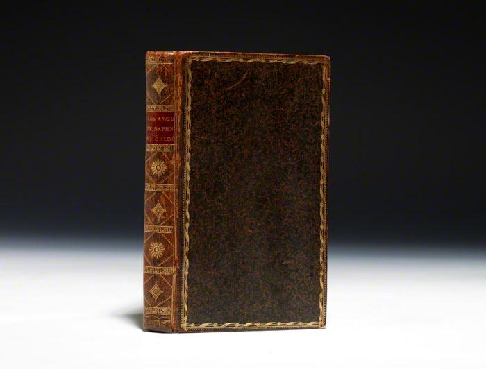Daphnis et Chloe LONGUS LONGUS. Les Amours Pastorales de Daphnis et Chloé. [Paris]: no publisher, 1745. Small octavo, contemporary full speckled polished calf, elaborately gi