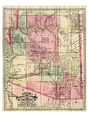 Cram's Railroad and Township Map of Arizona: CRAM George F. ARIZONA