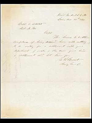 Autograph letter signed: CIVIL WAR GRANT