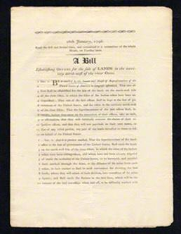 Bill Establishing Offices for the Sale of Lands: CONGRESS UNTERMEYER Louis
