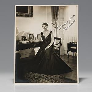 Photograph inscribed: ROOSEVELT Eleanor