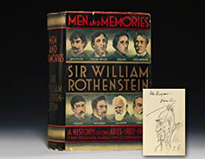 Men and Memories: A History of the Arts 1872-1922: BARRYMORE John ROTHENSTEIN William
